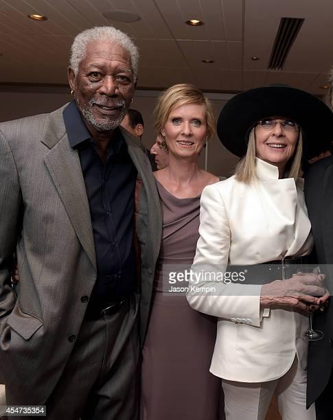 Actors Morgan Freeman Cynthia Nixon and Diane Keaton attend the Ruth Alex premiere during the 2014 Toronto International Film Festival at Roy Thomson...