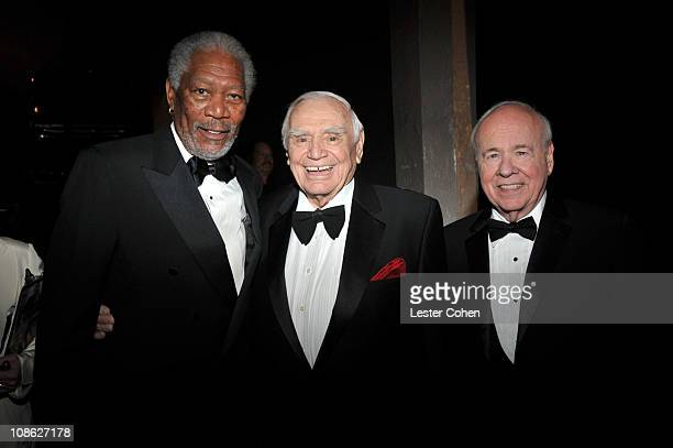 Actors Morgan Freeman , Ernest Borgnine, and Tim Conway attend the TNT/TBS broadcast of the 17th Annual Screen Actors Guild Awards held at The Shrine...