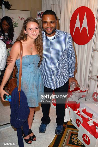 Actors Morgan Saylor and Anthony Anderson attend the HBO Luxury Lounge in honor of the 64th Primetime Emmy Awards held at Four Seasons Hotel Los...
