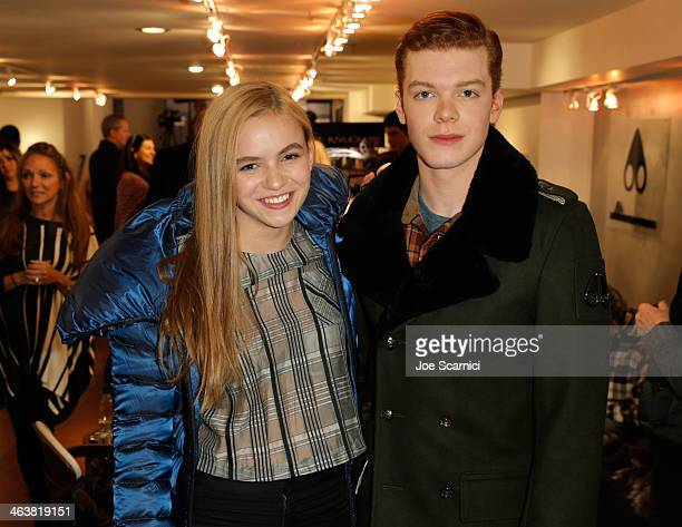 Actors Morgan Saylor and Cameron Monaghan attend The Variety Studio Sundance Edition Presented By Dawn Levy on January 19 2014 in Park City Utah