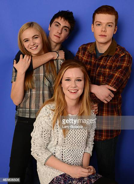 Actors Morgan Saylor Noah Silver Madisen Beaty and Cameron Monaghan pose for a portrait during the 2014 Sundance Film Festival at the WireImage...