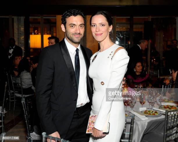 Actors Morgan Spector and Rebecca Hall attend the New York City Ballet's 2017 Fall Fashion Gala on September 28 2017 in New York City