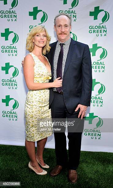 Actors Morgan Walsh and Matt Walsh attend the Global Green USA's Millennium Awards at the Fairmont Miramar Hotel on June 7 2014 in Santa Monica...