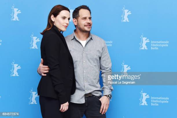 Actors Moritz Bleibtreu and Antje Traue attend the 'Bye Bye Germany' photo call during the 67th Berlinale International Film Festival Berlin at Grand...