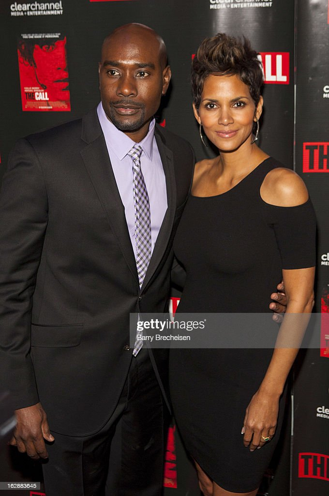 Actors Morris Chestnut and Halle Berry attend 'The Call' premiere at Showplace Icon Theater on February 28, 2013 in Chicago, Illinois.