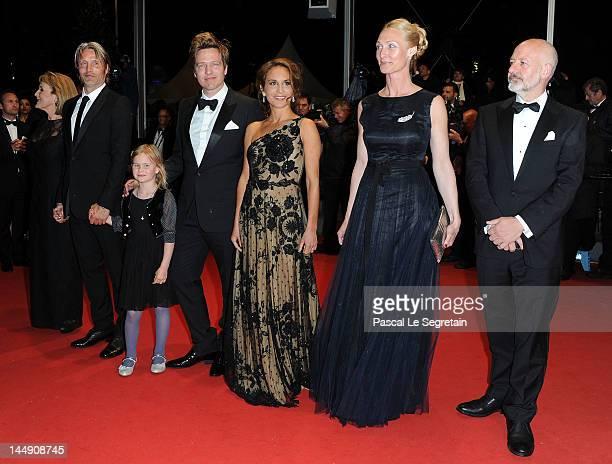 Actors Morten Kaufman, Sisse Graum Jorgensen, Alexandra Rapaport, Director Thomas Vinterberg, Viola Jacobsen Mikkelsen, Mads Mikkelsen and Susse Wold...
