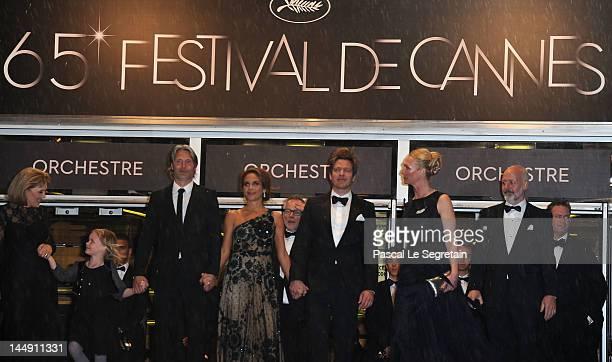Actors Morten Kaufman, Sisse Graum Jorgensen, Director Thomas Vinterberg, Alexandra Rapaport, Mads Mikkelsen, Viola Jacobsen Mikkelsen and Susse Wold...