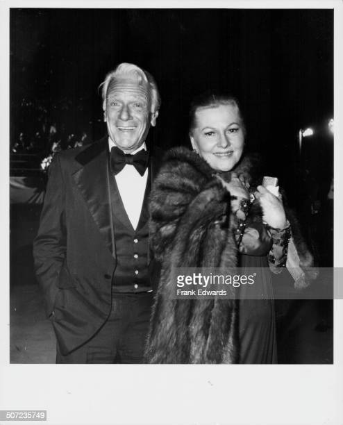 Actors Murray Mathieson and Joan Fontaine attending th 50th Academy Award Los Angeles CA April 1978