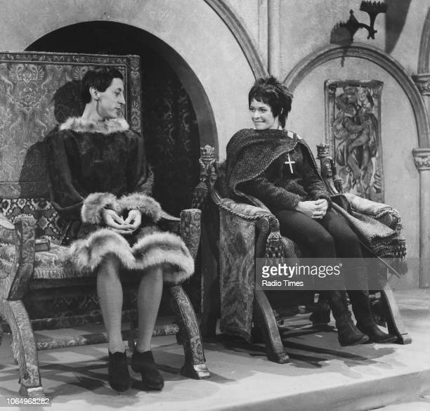 Actors Murray Melvin and Janet Suzman in a scene from the BBC Play of the Week 'St Joan' April 11th 1968