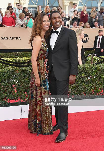 Actors Mykelti Williamson and Sondra Spriggs attend the 23rd Annual Screen Actors Guild Awards at The Shrine Expo Hall on January 29 2017 in Los...