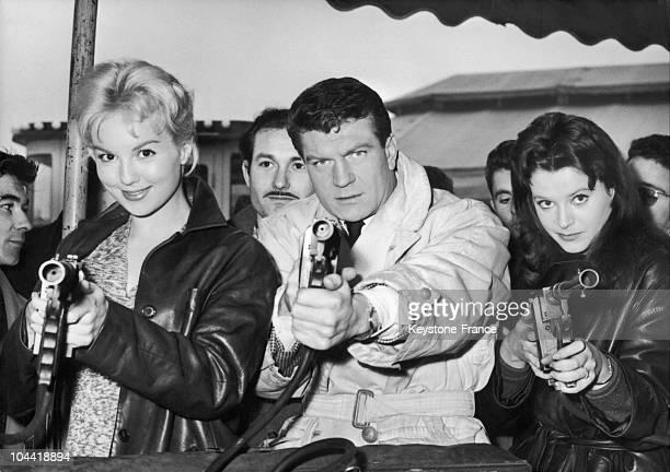 Actors Mylene Demongeot, Henry Vidal And Beatrice Altariba In France.