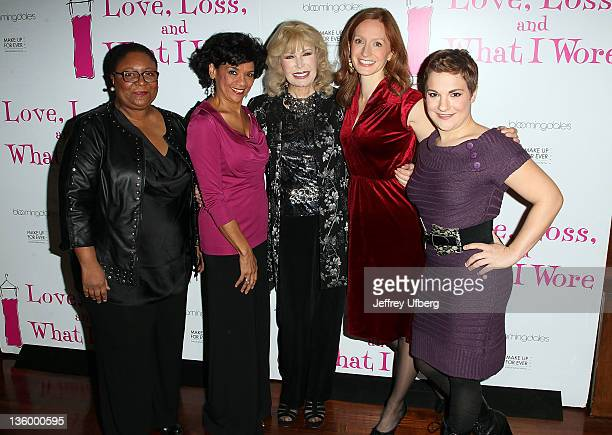 Actors Myra Lucretia Taylor Sonia Manzano Loretta Swit Emily Dorsch and Daisy Eagan attend the Love Loss and What I Wore new cast and 900th...