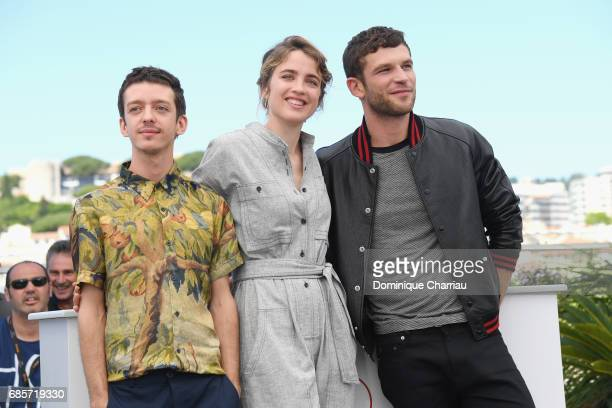 Actors Nahuel Perez Biscayart Adele Haenel and Arnaud Valois attend the '120 Beats Per Minute ' screening during the 70th annual Cannes Film Festival...