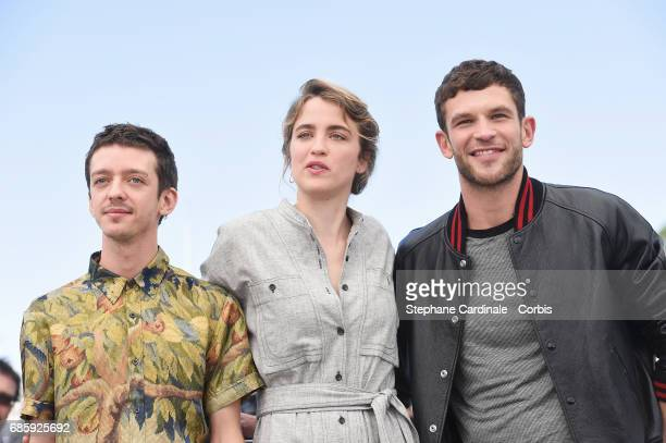 Actors Nahuel Perez Biscayart Adele Haenel and Arnaud Valois attend the 120 Beats Per Minute screening during the 70th annual Cannes Film Festival at...