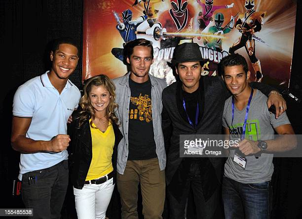Actors Najee DeTiege Brittany Pirtle Alex Heartman Steven Skyler and Hector David Jr attend 2012 Long Beach Comic And Horror Con held at Long Beach...