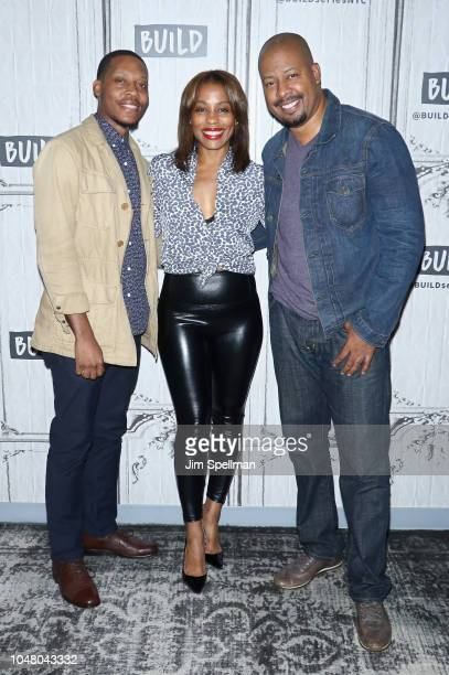 Actors Namir Smallwood Karen Pittman and Morocco Omari attends the Build Series to discuss Pipeline at Build Studio on October 9 2018 in New York City