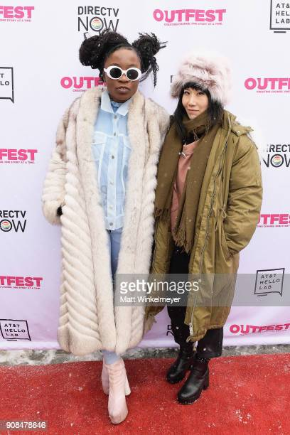 Actors Nana Ghana and Vivian Bang attend Outfest Queer Brunch at Sundance Presented By DIRECTV NOW and ATT Hello Lab during the 2018 Sundance Film...