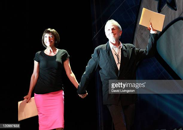 Actors Nana Visitor and Rene Auberjonois attend Day 2 of the Official Star Trek Convention at the Rio Las Vegas Hotel Casino on August 12 2011 in Las...
