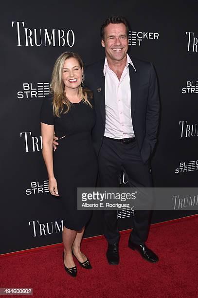 Actors Nanci Chambers and David James Elliott attend the premiere of Bleecker Street Media's Trumbo at AMPAS Samuel Goldwyn Theater on October 27...
