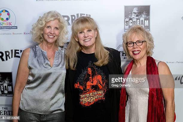 Actors Nancy Allen guest and PJ Soles arrive at the 40th Anniversary Screening Cast Reunion And QA For 'Carrie' at The Theatre at Ace Hotel on...