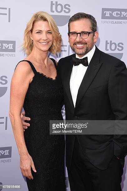 Actors Nancy Carell and Steve Carell attend the 2015 AFI Life Achievement Award Gala Tribute Honoring Steve Martin at the Dolby Theatre on June 4...