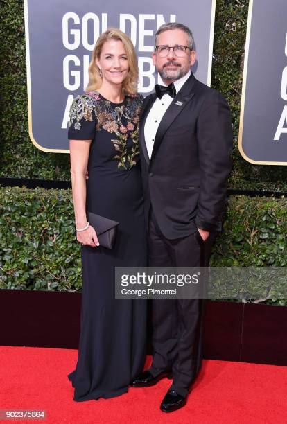 Actors Nancy Carell and Steve Carell attend The 75th Annual Golden Globe Awards at The Beverly Hilton Hotel on January 7 2018 in Beverly Hills...