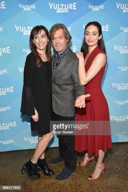 Actors Nancy Pimental, William H. Macy and Emmy Rossum attend the 2017 Vulture Festival at Milk Studios on May 21, 2017 in New York City.