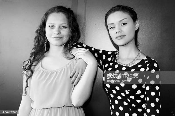 Actors Nancy Talamantes and Leidi Gutierrez are photographed on May 18 2015 in Cannes France