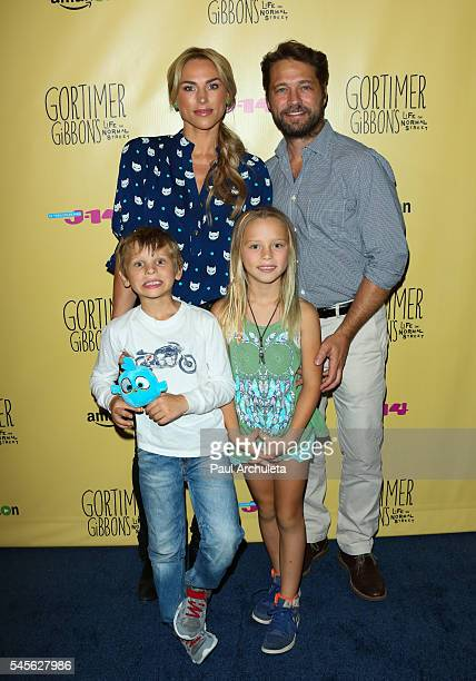 Actors Naomi LowdePriestley and Jason Priestley attend the celebration for Amazon's Gortimer Gibbon's Live On Normal Street season 2 at Racer's Edge...