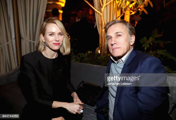 Actors Naomi Watts and Christoph Waltz attend the Cadillac Oscar Week Celebration at Chateau Marmont on February 23 2017 in Los Angeles California