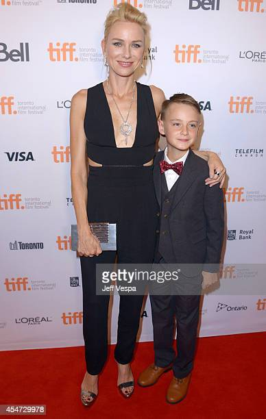 Actors Naomi Watts and Jaeden Lieberher attend the 'St Vincent' premiere during the 2014 Toronto International Film Festival at Princess of Wales...