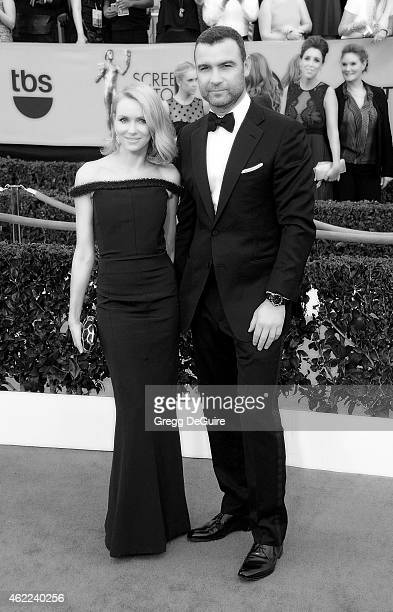 Actors Naomi Watts and Liev Schreiber arrive at the 21st Annual Screen Actors Guild Awards at The Shrine Auditorium on January 25 2015 in Los Angeles...