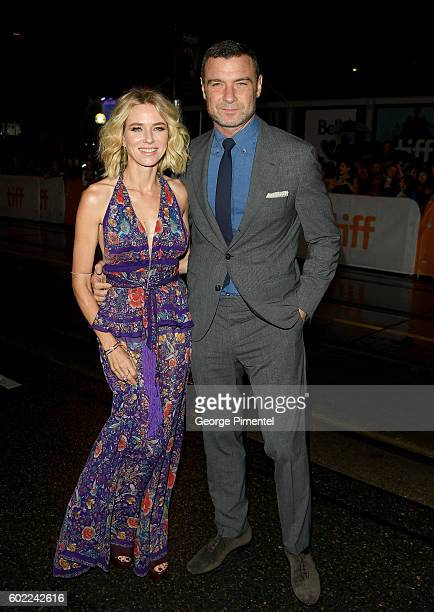 Actors Naomi Watts and Liev Schreiber attend 'The Bleeder' premiere during the 2016 Toronto International Film Festival at Princess of Wales Theatre...