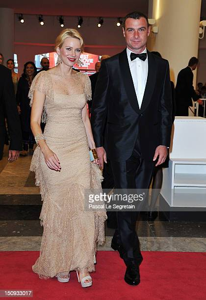 Actors Naomi Watts and Liev Schreiber attend the Opening Ceremony of the 69th Venice International Film Festival at Palazzo del Cinema on August 29...