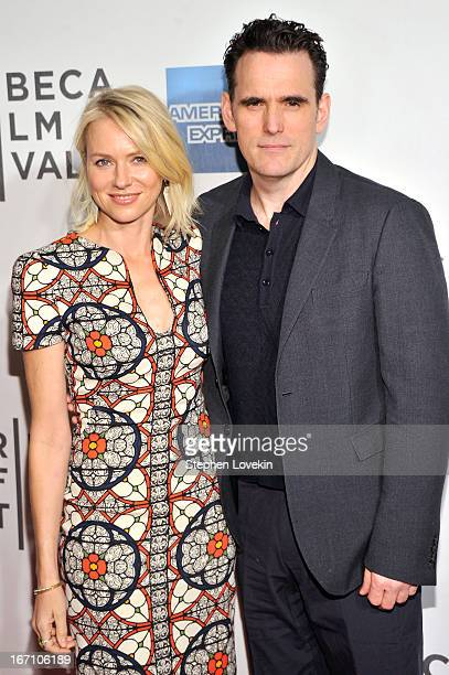 Actors Naomi Watts and Matt Dillion attend the 'Sunlight Jr' World Premiere during the 2013 Tribeca Film Festival on April 20 2013 in New York City