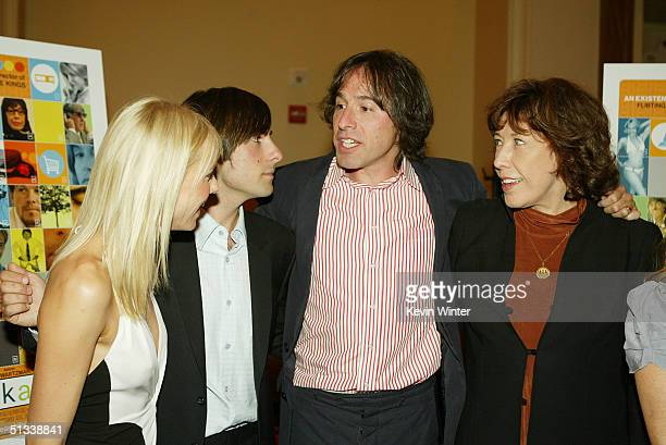 Actors Naomi Watts Jason Schwartzman director/producer David O Russell and actress Lily Tomlin pose at the premiere of Fox Searchlights' I Heart...