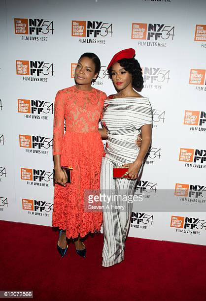 Actors Naomie Harris and Janelle Monae attend the 54th New York Film Festival Moonlight premiere at Alice Tully Hall Lincoln Center on October 2 2016...