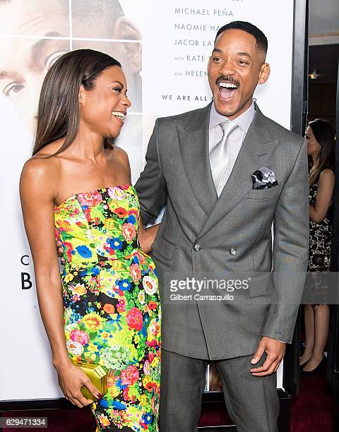 Actors Naomie Harris and Will Smith attend 'Collateral Beauty' World Premiere at Frederick P. Rose Hall, Jazz at Lincoln Center on December 12, 2016...