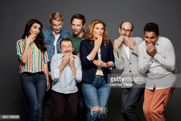 Actors Nasim Pedrad Bjorn Gustafsson Ken Hall Michael Cassidy Ana Gasteyer Brian Huskey and Oscar Nunez from People of Earth are photographed for...