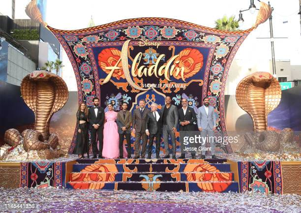 Actors Nasim Pedrad Marwan Kenzari Naomi Scott Mena Massoud Director Guy Ritchie Composer Alan Menken actors Will Smith Navid Negahban and Numan Acar...