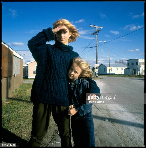 Actors Nastassja Kinski and Hunter Carson photographed during the filming of Paris Texas on November 27 in Holly Beach Louisiana