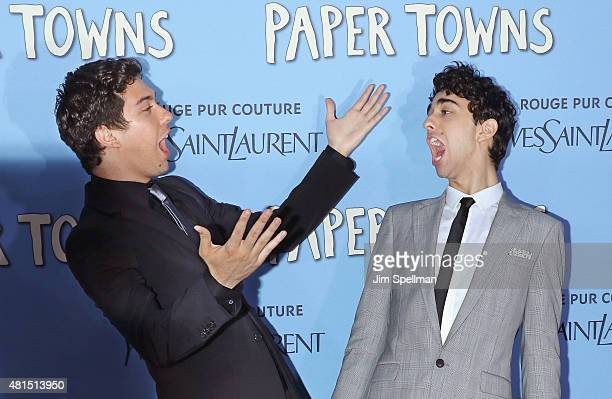 Actors Nat Wolff and Alex Wolff attend the Paper Towns New York premiere at AMC Loews Lincoln Square on July 21 2015 in New York City