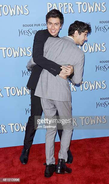 Actors Nat Wolff and Alex Wolff attend the 'Paper Towns' New York premiere at AMC Loews Lincoln Square on July 21 2015 in New York City