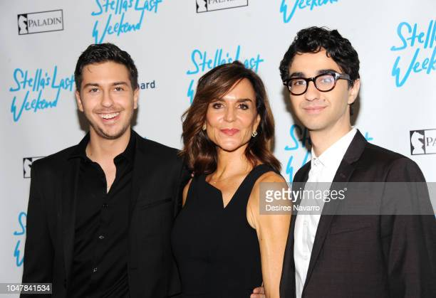 Actors Nat Wolff director Polly Draper and Alex Wolff attend 'Stella's Last Weekend' New York Premiere at Angelika Film Center on October 8 2018 in...