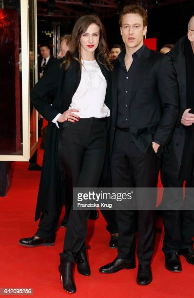 Actors Natalia Belitski and Alexander Fehling attend the 'In Times of Fading Light' premiere during the 67th Berlinale International Film Festival...