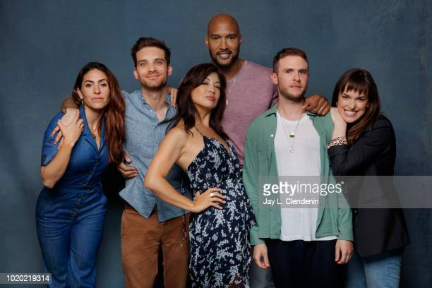 Actors Natalia Cordova-Buckley, Jeff Ward, Ming-Na Wen, Henry Simmons, Iain De Caestecker and Elizabeth Henstridge from 'Agents of SHIELD' are...