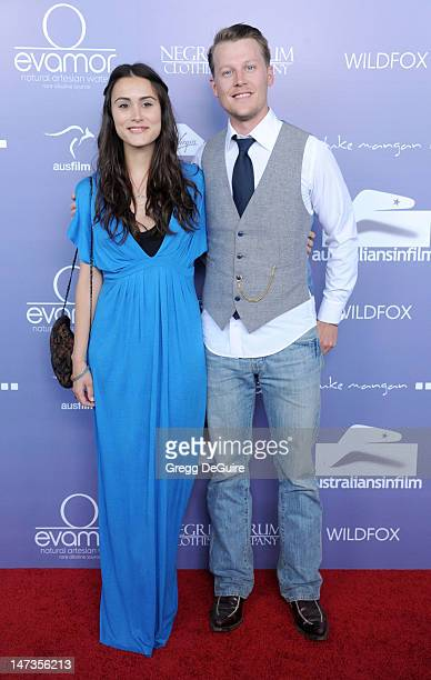 Actors Natalie Blair and David Hoflin arrive at the 8th Annual Australians In Film Breakthrough Awards at InterContinental Hotel on June 27 2012 in...