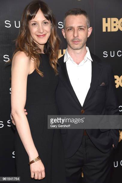 Actors Natalie Gold and Jeremy Strong attend the 'Succession' New York premiere at Time Warner Center on May 22 2018 in New York City