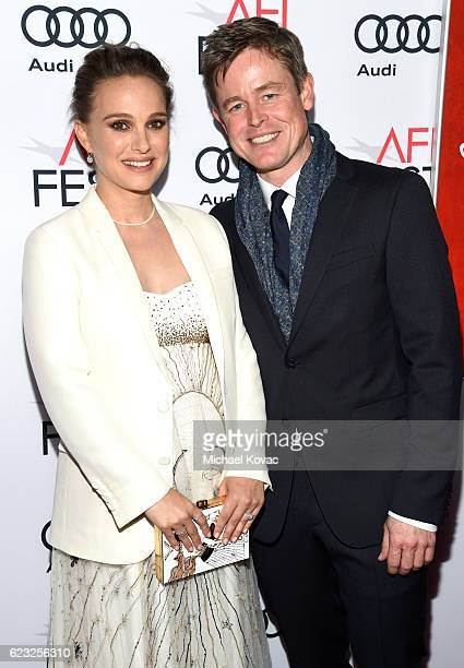 Actors Natalie Portman and Caspar Phillipson attend the premiere of 'Jackie' at AFI Fest 2016 presented by Audi at The Chinese Theatre on November 14...