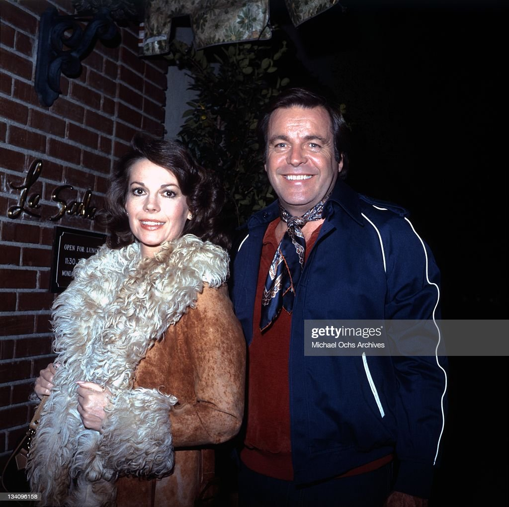 Actors Natalie Wood and Robert Wagner outside La Scala restaurant in 1980 in Beverly Hills, California.